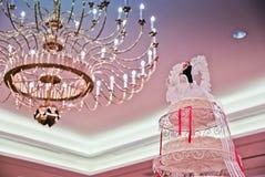 Γαμήλιο κέικ για τη γαμήλια τελετή Στοκ Εικόνα