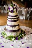 Γαμήλιο κέικ στη δεξίωση γάμου Στοκ εικόνες με δικαίωμα ελεύθερης χρήσης