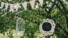 Γαμήλιο ντεκόρ της γαμήλιας τελετής απόθεμα βίντεο
