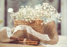 Γαμήλιο ντεκόρ της κανέλας Στοκ Φωτογραφία