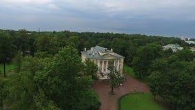 Γαμήλιο παλάτι στην πόλη Pushkin Άγιος-Πετρούπολη εναέριο 4k απόθεμα βίντεο