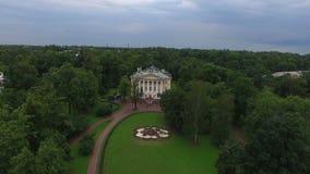 Γαμήλιο παλάτι στην πόλη Pushkin Άγιος-Πετρούπολη εναέριο 4k φιλμ μικρού μήκους