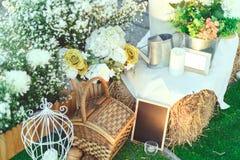 Γαμήλιο σκηνικό conner Στοκ φωτογραφία με δικαίωμα ελεύθερης χρήσης