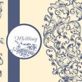 Γαμήλιο σχέδιο με τα λουλούδια Στοκ Εικόνες
