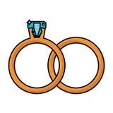 γαμήλιο σύμβολο κοσμήματος δαχτυλιδιών Στοκ Εικόνες