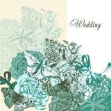 Γαμήλιο υπόβαθρο στο εκλεκτής ποιότητας ύφος Στοκ φωτογραφία με δικαίωμα ελεύθερης χρήσης