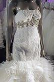 Γαμήλιο φόρεμα. Λεπτομέρεια-1 Στοκ Εικόνες