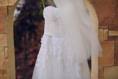 Γαμήλιο φόρεμα HD Στοκ φωτογραφία με δικαίωμα ελεύθερης χρήσης