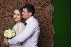Γαμήλιο όμορφο ζεύγος Στοκ εικόνες με δικαίωμα ελεύθερης χρήσης