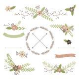 Γαμήλιο floral σύνολο Στοκ Εικόνες