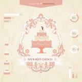 Γαμήλιο infographics Στοκ εικόνα με δικαίωμα ελεύθερης χρήσης