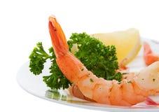 γαρίδες γευμάτων Στοκ φωτογραφία με δικαίωμα ελεύθερης χρήσης