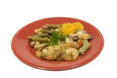γαρίδες γεύματος σκόρδου Στοκ Εικόνες