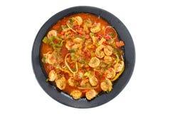 γαρίδες γεύματος Στοκ Εικόνες