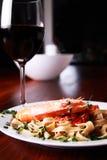 γαρίδες ζυμαρικών Στοκ Φωτογραφία