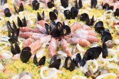 Γαρίδες και μύδια στοκ εικόνες
