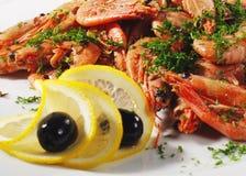 γαρίδες πιάτων ορεκτικών Στοκ φωτογραφία με δικαίωμα ελεύθερης χρήσης