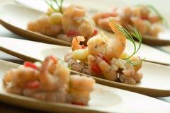 γαρίδες πιάτων Στοκ Φωτογραφίες