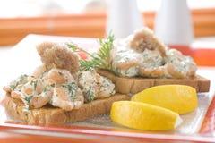 γαρίδες σάντουιτς που ψή& Στοκ Εικόνες