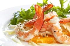 γαρίδες σαλάτας μαράθο&upsilon Στοκ Εικόνες