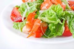 γαρίδες σαλάτας Στοκ Φωτογραφία