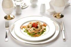 Γαρίδες στο πιάτο Στοκ φωτογραφία με δικαίωμα ελεύθερης χρήσης