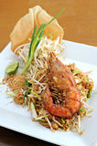 γαρίδες padthai Στοκ φωτογραφία με δικαίωμα ελεύθερης χρήσης