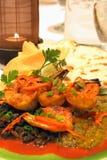 γαρίδες quesadilla Στοκ εικόνα με δικαίωμα ελεύθερης χρήσης