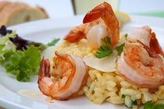 γαρίδες risotto Στοκ Φωτογραφία