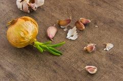 Γαρίφαλα κρεμμυδιών και σκόρδου Στοκ Εικόνα