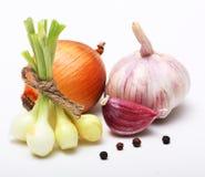 Γαρίφαλο και κρεμμύδι σκόρδου Στοκ Εικόνες