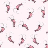 γαρίδες άνευ ραφής διάνυσμα προτύπων Στοκ φωτογραφία με δικαίωμα ελεύθερης χρήσης