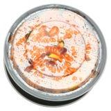 Γαρίδες και ζυμαρικά Fusilli στο πλαστικό εμπορευματοκιβώτιο μεσημεριανού γεύματος με το καπάκι Στοκ εικόνες με δικαίωμα ελεύθερης χρήσης