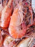 Γαρίδες με το γλυκό σάλτσας Στοκ Φωτογραφίες