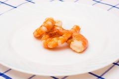 Γαρίδες που τηγανίζονται στο πετρέλαιο που σχεδιάζεται Στοκ Φωτογραφίες