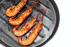 Γαρίδες που ψήνονται στη σχάρα Στοκ φωτογραφία με δικαίωμα ελεύθερης χρήσης