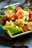 γαρίδες σαλάτας αβοκάντο Στοκ εικόνες με δικαίωμα ελεύθερης χρήσης