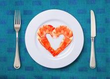 Γαρίδες σε ένα πιάτο Στοκ Φωτογραφία