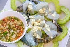 Γαρίδες στη σάλτσα ψαριών, καυτός και πικάντικος Στοκ εικόνες με δικαίωμα ελεύθερης χρήσης