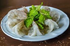 Γαρίδες στη σάλτσα ψαριών Στοκ εικόνα με δικαίωμα ελεύθερης χρήσης