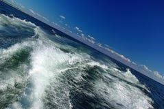 γαρμένα βάρκα ίχνη Στοκ εικόνες με δικαίωμα ελεύθερης χρήσης