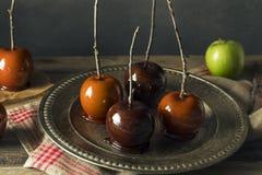 Γαστρονομικά γλυκά φανταχτερά μήλα καραμελών Στοκ Φωτογραφίες