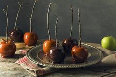 Γαστρονομικά γλυκά φανταχτερά μήλα καραμελών Στοκ Φωτογραφία