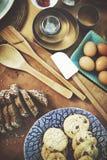 Γαστρονομική έννοια συνταγής προετοιμασιών αρτοποιείων ψησίματος Στοκ Εικόνα