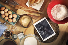 Γαστρονομική έννοια συνταγής προετοιμασιών αρτοποιείων ψησίματος Στοκ Εικόνες