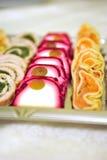 Γαστρονομική διακόσμηση τροφίμων Στοκ Εικόνες