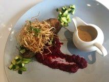 Γαστρονομική κουζίνα γεύμα Στοκ Φωτογραφία
