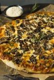 Γαστρονομική σπιτική πίτσα μανιταριών Στοκ εικόνες με δικαίωμα ελεύθερης χρήσης