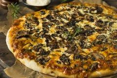 Γαστρονομική σπιτική πίτσα μανιταριών Στοκ Εικόνες