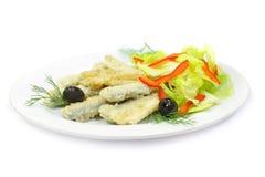 γαστρονομική τήξη τροφίμων ψαριών Στοκ Εικόνες
